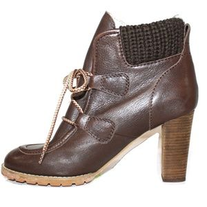 SEE BY CHLOE LACE UP ANKLE BOOTS SIZE 7.5